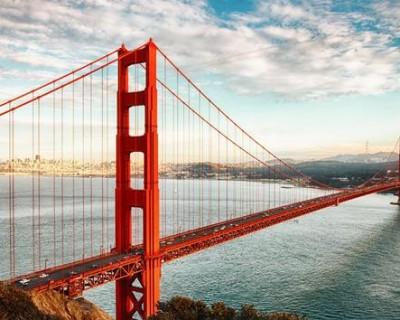 雄伟金门大桥PPT背景图片