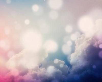 彩色渐变云彩云朵PPT背景图片
