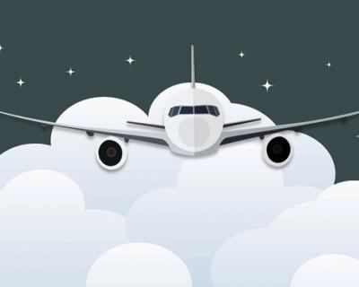 着陆起飞飞机PPT背景图片