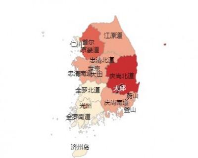 韩国最新疫情实时大数据报告
