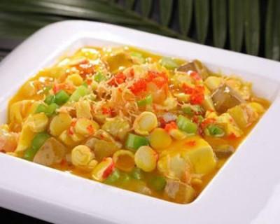 二十道简单易做家常菜 蟹黄豆腐的做法