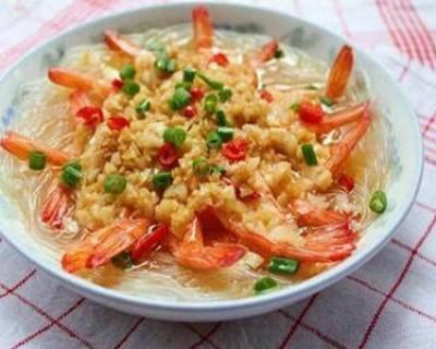 二十道简单易做家常菜 好吃的蒜蓉蒸大虾做法