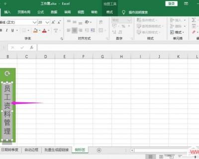 如何制作文件夹侧标签?Excel表格制作文件夹标签的方法