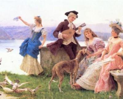 世界经典油画作品欣赏 思想的传递