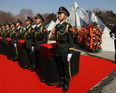 第七批在韩志愿军烈士安葬仪式在沈阳举行