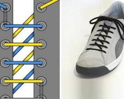男系鞋带的24方法图解(全程图解鞋带的24种系法)